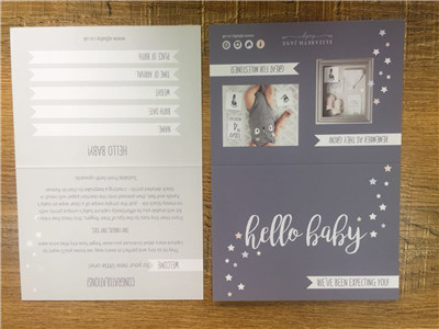 double sides printed greeting cards