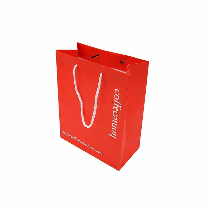Red Printing Paper Bag With Handles For Gift Clothing