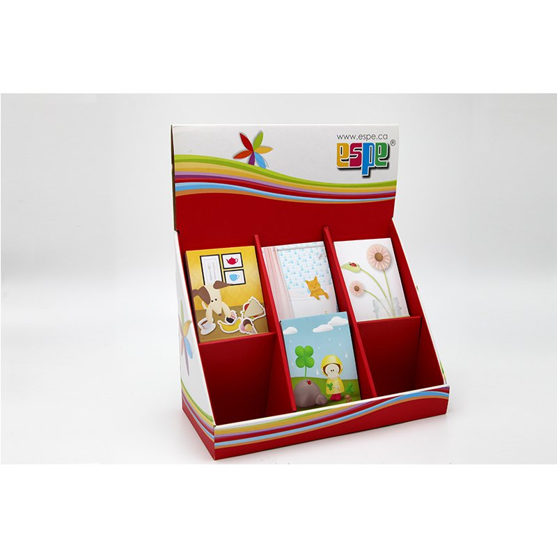 cardboard showing stand for stationery
