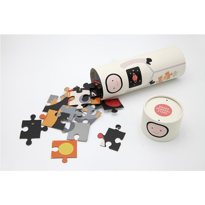cardboard packaging cylinder for puzzles