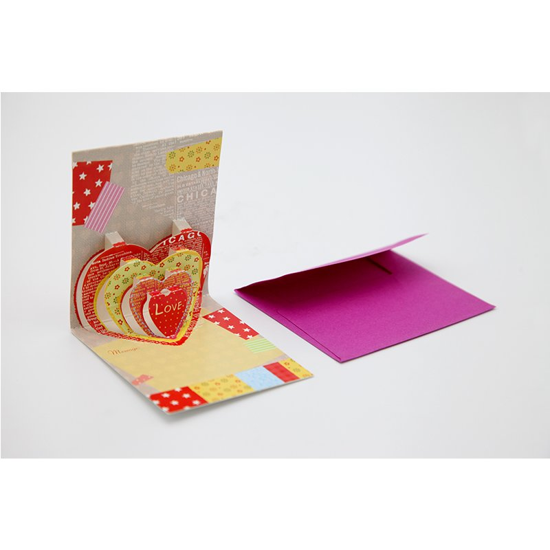 colored paper greeting card