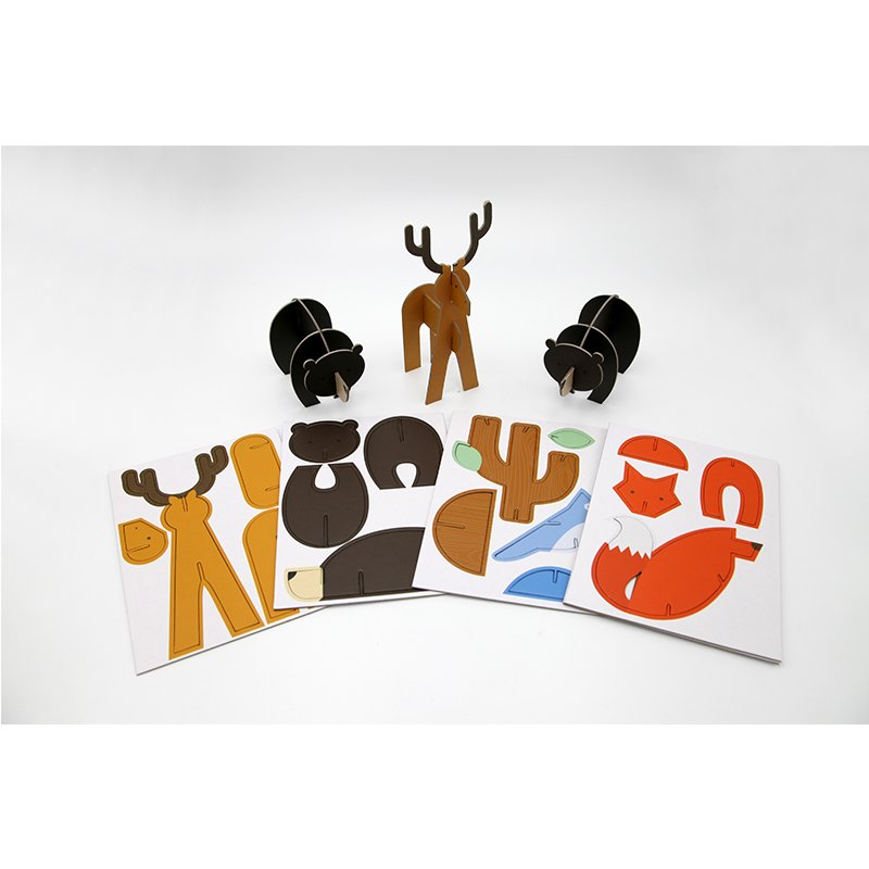 printed paper animal puzzles