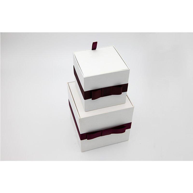 white gift paper box