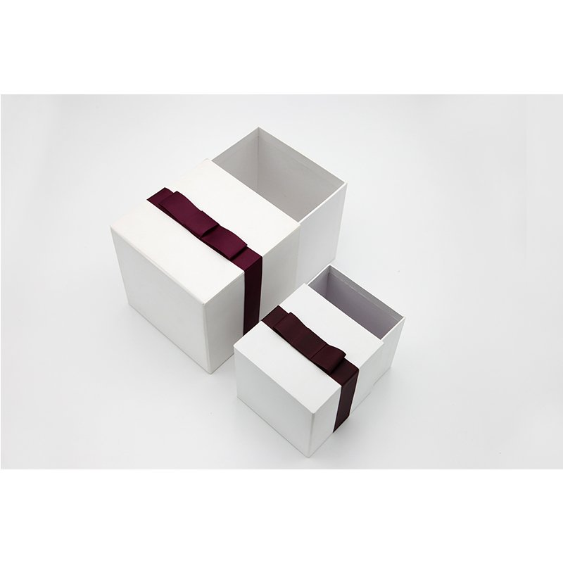 white gift paper packaging with drawer